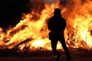 volwassen mannelijkheid brandweer vuur